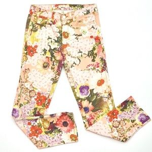Tory Burch Izzy Floral Skinny Jeans